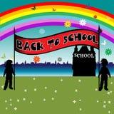 gående tillbaka skola till Royaltyfri Fotografi