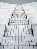 gående trappa för cement ner Arkivbilder