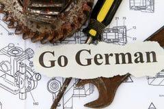 Gående tysk Arkivfoto