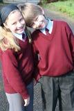 gående ungeskola till Royaltyfria Bilder