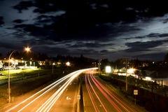 Gångbana över passerande i Nanaimo Arkivbild