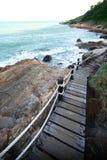 Gångbana bredvid havet Royaltyfria Foton