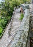 Gångbana för stentegelstenstege Arkivbild