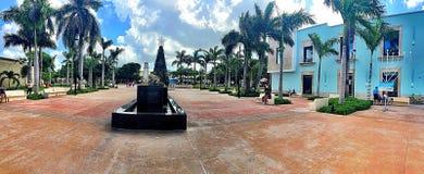Gångbana i Cozumel, Mexico Arkivbilder