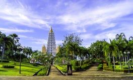 Gångbana i tempel arkivfoton