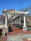 Gångbana på den minnes- plazaen i New Bedford, Massachusetts Royaltyfria Foton