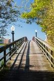 Gångbana till ön av havstaden, Maryland Fotografering för Bildbyråer