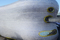 Gångbana till tjurfäktningsarenashoppingmitten, Birmingham Arkivbild