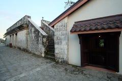 Gångbanan på överkanten av fortet San Pedro, Cebu stad, Filippinerna Royaltyfria Bilder