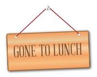 gången lunch till vektor illustrationer