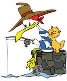 gånget fiska royaltyfri illustrationer