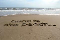 Gånget till stranden Royaltyfri Foto