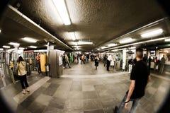 gångtunnel Fotografering för Bildbyråer
