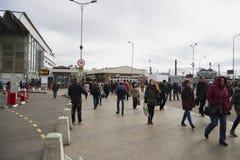 Gångtunnel Chkalovskaya för Kursk stationsfyrkant Royaltyfri Fotografi