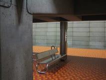 gångtunnel för metrostation Royaltyfri Fotografi