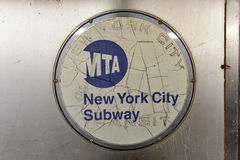Gångtunnel för MTA New York City Royaltyfria Bilder