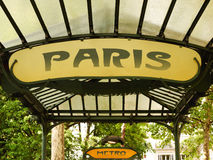 Gångtunnel Paris, tunnelbana i paris Arkivbild