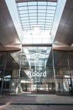 Gångtunnel/tunnelbana/underjordisk station Amsterdam Noord, Nederland arkivfoto