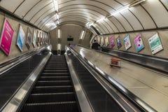 Gångtunnelstation i London, England, Förenade kungariket Fotografering för Bildbyråer