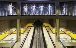 Gångtunnelstation i Madrid Arkivbild