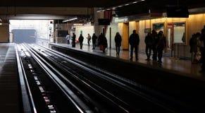Gångtunnelstation i tunnelbanan Santiago Chile royaltyfri fotografi