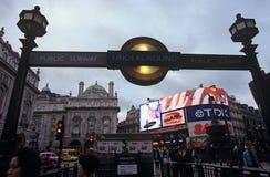Gångtunnelstation, Piccadilly cirkus, London Royaltyfri Foto