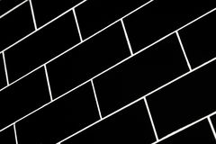 gångtunneltegelplattor Arkivfoto