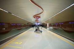 Gångtunneltunnelbanastation i Sofia, Bulgarien arkivbilder