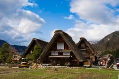 går den japan shirakawaen Fotografering för Bildbyråer