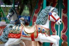 går den runda glada ponnyn Royaltyfri Foto
