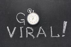 Går den virus- klockan Arkivfoton