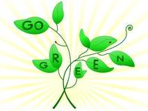 Går det gröna begreppet Royaltyfri Bild