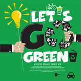 Går det gröna begreppet. Royaltyfri Foto