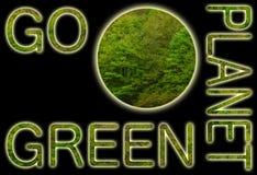 går det gröna planet Royaltyfria Foton