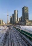 GÅR drev i i stadens centrum Toronto Royaltyfri Bild