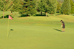Går golfspelet royaltyfri bild