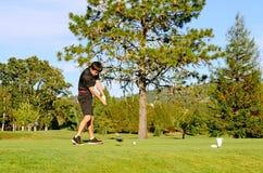 Går golfspelet royaltyfria foton