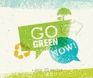 Går gräsplan återanvänder förminskar återanvänder Eco affischbegrepp Idérik organisk illustration för vektor på grov bakgrund stock illustrationer