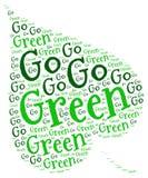 Går grön ekologi Arkivbild