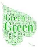 Går grön ekologi Arkivfoto