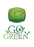 går grön typografi vektor illustrationer