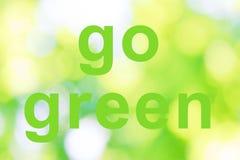 Går gröna ord Royaltyfria Bilder