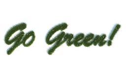 Går gröna seriesymboler ut ur realistiskt gräs Royaltyfria Bilder