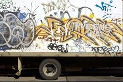 går grafitti Royaltyfria Foton