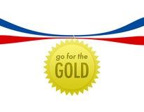 går guld Arkivbild