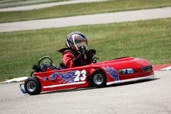 Går Kart Racing Arkivfoto