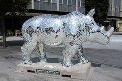 Går noshörning 7 royaltyfria bilder