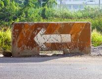 Går raka symboler på huvudvägen Royaltyfria Bilder