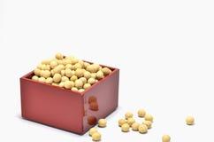 går soybeans för mått ett Arkivbilder