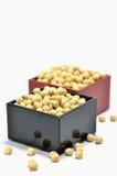 går soybeans för mått ett Royaltyfri Bild